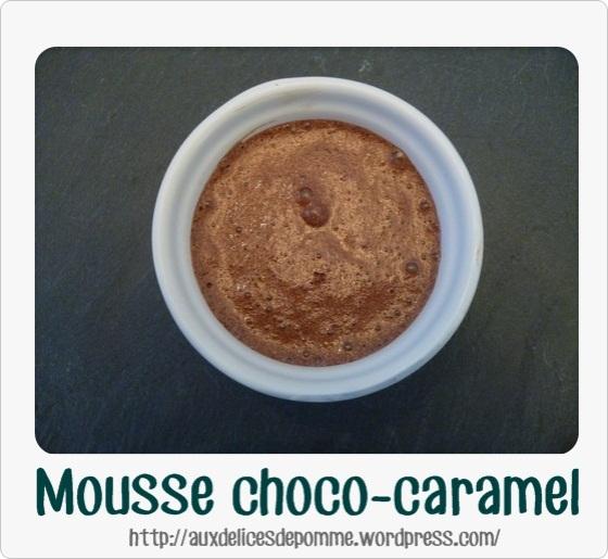 Mousse choco caramel